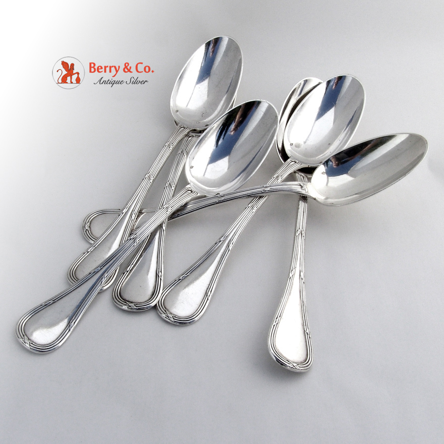 bougainville set of 6 table spoons sterling silver