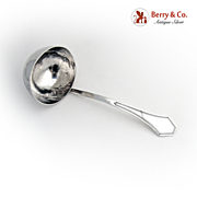 Arts and Crafts Gravy Ladle Sterling Silver 1910