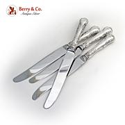SALE PENDING Dinner Knives 4 pieces Birks Sterling Silver 1904 - 1924