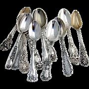 Miscellaneous Souvenir Spoons Sterling Silver  12 Pieces