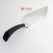 Mexican Leaf Pie Server Sterling Silver 1960