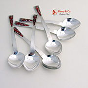 Russian Soviet Teaspoons Set of 6 Silver 1958