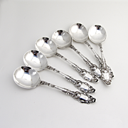 Virginiana Gumbo Soup Spoons Gorham Sterling Silver