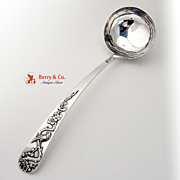 Unique Chinese Export Flowering Tree Soup Ladle Sterling Silver Tuek Chang 1900