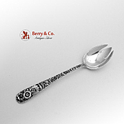 SALE PENDING Repousse Ice Cream Fork Sterling Silver S Kirk Son 1940
