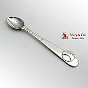 Tiffany Co Baseball Baby Spoon Sterling Silver 1995