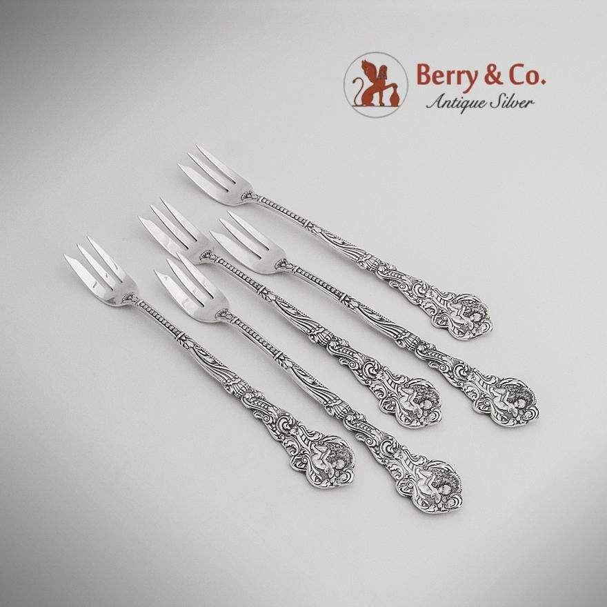 Versailles Cocktail Forks Sterling Silver 5 Pieces Gorham 1885 from ...