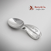 Tiffany Co Curved Handle Baby Spoon Sterling Silver 1910