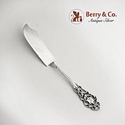 Ornate Master Butter Knife Sterling Silver Open Work Designs