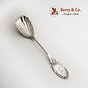 Aesthetic Sugar Shell Spoon Twist Handle Coin Silver 1870