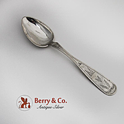 Antique Table Spoon Scandinavian Silver Henriksen Haugesund 18th 19th Century
