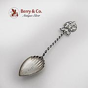 Ornate Open Work Demitasse Spoon Sterling Silver December 25 date mark