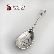 Poached Egg Serving Spoon Coin Silver Wm Gale Jr 1860