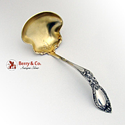 Lady Care Gravy Ladle Sterling Silver Baker Manchester 1914