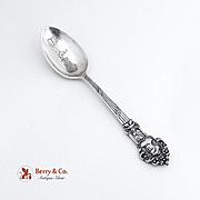 Masonic Souvenir Spoon Sterling Silver 1900