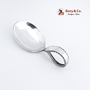 Curved Handle Baby Spoon Sterling Silver