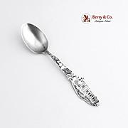 San Gabriel Mission Souvenir Spoon Sterling Silver Paye and Baker 1900