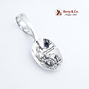 Nursery Rhyme Mary Had a Little Lamb Curved Handle Baby Spoon Sterling Silver Reed and Barton