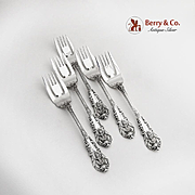 Sir Christopher Set of 5 Salad Forks Sterling Silver Wallace 1936