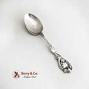 Art Nouveau Secret of the Flower Teaspoon Sterling Silver Unger Brothers 1904