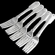 Antique Irish Set of 5 Forks Sterling Silver Dublin 1836 Christopher Cummins