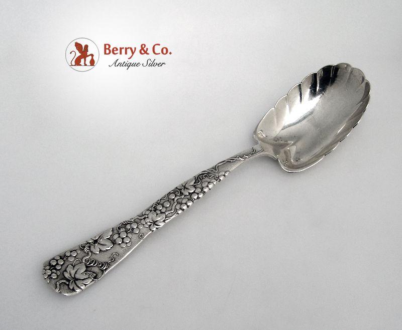 Tiffany Grape Vine Berry Spoon Sterling Silver 1872 Monogram H
