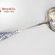 Arabesque Soup Ladle Whiting Sterling Silver 1875 Monogram K