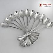 St Dunstan Iced Teaspoons 11 Tiffany Sterling Silver 1909 Monogram C