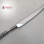 Francis I Huge Bread Knife Sterling Silver Stainless 1950 No Monograms