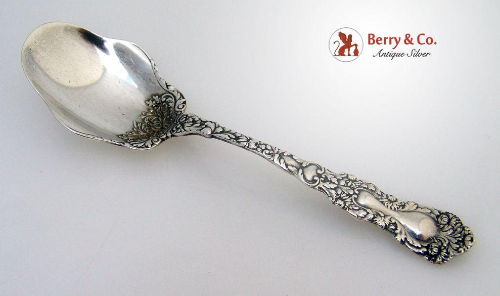Imperial Chrysanthemum Sugar Spoon Gorham 1894 Sterling SIlver No Monogram