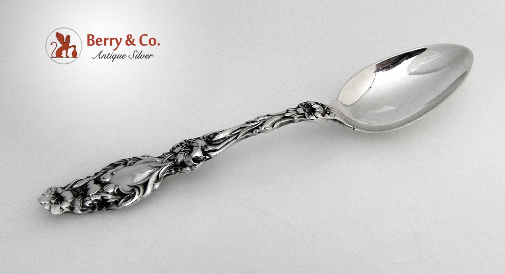 Large Tablespoon Lily Whiting Patent 1902 Sterling Silver No Monogram