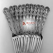 Versailles Dinner Forks 11 Gorham Copyrighted 1888 No Monograms