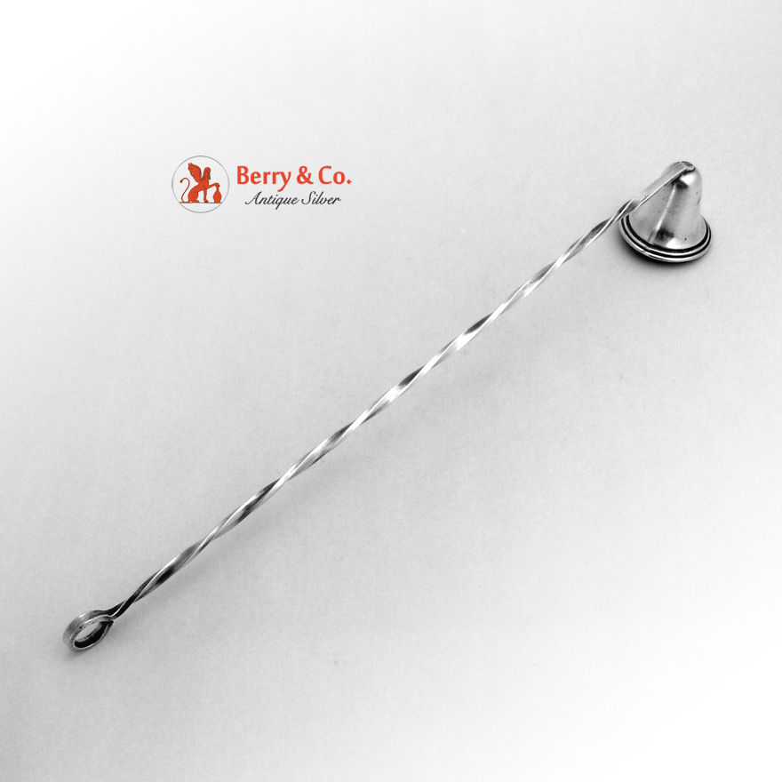 Twist handle candle snuffer sterling silver 1950 from berrycom com flatware on ruby lane - Twisted silverware ...