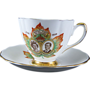 Bone China Cup and Saucer to mark Royal Visit to Canada i  1959