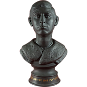 Royal Doulton Black Basalt Bust of Prince Charles Made in 1969 for Investiture No. 57 of 75