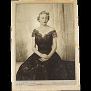 SOLD Signed Dorothy Wilding Bond Street Studio Photograph of Mrs Hugh Labatt