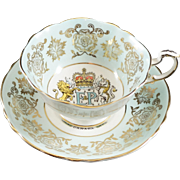 Paragon Fine Bone China up & Saucer to Commemorate Thr Royal Visit of Queen Elizabeth in 1959
