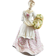 Royal Worcester Figurine SPRING FAIR Lady in Pink Dress