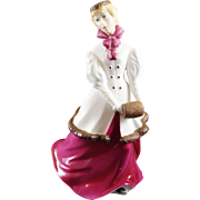 Royal Worcester Figurine WINTER WALTZ Lady with Red Dress