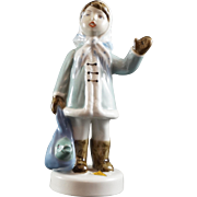 Royal Dux Figurine Girl with Fish