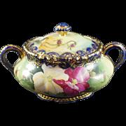 Nippon Hand Painted Biscuit Jar or Cookie Jar