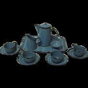 SALE Granite-ware Children's tea set 12 pc set blue