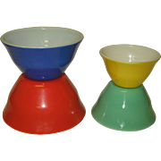 McKee Nesting Set of Mixing Bowl Rainbow Primary Colors