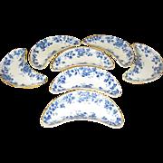 SALE Maddock Flow Blue Bone Dishes Oakland Pattern set of 7