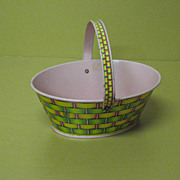 SOLD J. Chein & Co. Colorful Tin Easter Basket