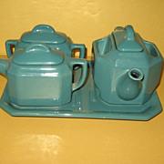 SALE T-Ball Teapot Bacharach Stupakoff Latrobe PA Under-plate  Cream Sugar