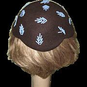 Deco Hat 1944 Beaded Skull Cap Marshall Field & Co.