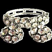 Rhinestone Clamper Bracelet & Earrings, 50's Lisner Demi