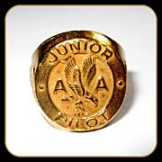 American Airlines Ring, Junior Pilot, 40's Vintage