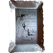 Antique Card Tray, Angel Guardian Orphanage, 1907 Chicago